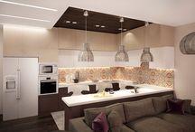 ВизуализациЯ проектов / Визуализация дизайн проекта кухни-гостиной-столовой