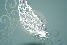 plumes en cadre