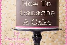 Ganache and how to decorate a cake