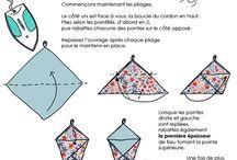 Kinchaku origami bag