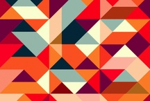 geometric art, abstract poster / geometric art, abstract poster