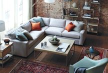 Brick Wall&chesterfield sofa