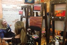 Wine and Painting / Wine and painting at Fresh Paint Studio + Cafe.