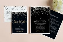 Black and gold weddings