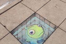 3-D street art▪☆