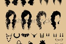 Fashion / vector fashion shopping girls illustration