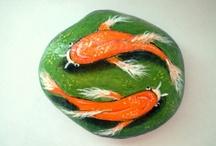Ideas for Painting on rocks... / by Marsha Brady