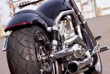 Cars and motorcycle's