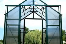 Walk thru Greenhouse / The Grandio line of Greenhouses has 2 models that may be converted to having dual door or walk through access. The Grandio Elite Greenhouse and the Grandio Ascent Greenhouse.