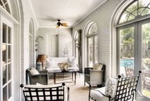 Porch Perfection / Styles may vary, but the racing effect of this transitional room remains. Examples to inspire.