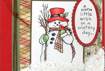 Stampendous country snowman