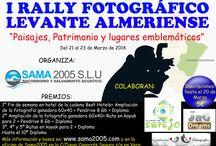 I RALLY FOTGRÁFICO LEVANTE ALMERIENSE / Concurso de fotografía en el Levante Almeriense. Consiste en realizar 6 fotografías de Paisajes, Patrimonio y lugares emblemáticos en al menos 3 pueblos del Levante almeriense: Antas, Bedar, Carboneras, Cuevas del Almanzora, Garrucha, Huercal Overa, Los Gallardos, Lubrín, Mojacar, Pulpí, Sorbas, Taberno, Turre y Vera.