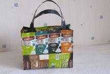 recyclage des paquets Lobodis / les paquets se transforment en sacs