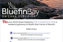 The 2014 Bluefin Bay Getaway Pinfest / Pin your North Shore Getaway for a chance to win a weekend getaway to Bluefin Bay Family of Resorts March 27 - April 17, 2014!