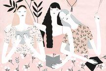 Gal Tribe / Fierce Girly Art Inspiration , Girl Gang, Pink, Whimsical, Bold