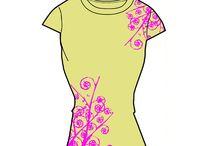 fashion / alcuni capi disegnati per una linea di t-shirt