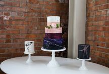 Modern wedding cakes and desserts
