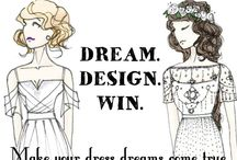 Dream.Design.Win. / We are giving a lucky bride that chance to win her dream wedding gown!  Follow the instructions to enter and have the chance to win.  Take a look at some of the beautiful gowns that have already been entered! https://www.facebook.com/luraquelinc/