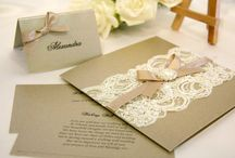 Handmade wedding invitations..