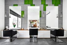 MOSS Salon / MOSS hair, nail and beauty salon is the compilation of two spaces, previously separated and located on the different levels.