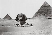 Egypte antique / Diverses photos de temples, pyramides, du sphinx, etc.