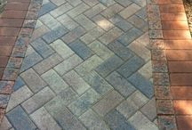 Brick tile walkways, sidewalks, patios and more