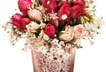 Flores - Tons de rosa / Arranjos de flores elaborados por Lú Gallottini e com destaque para as várias tonalidades de rosa que existem na natureza.