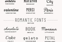 Typography / Fonts, letters, hand written, typography