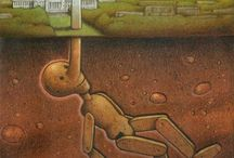 Pawel Kuczynski / Satirical illustration from the Polish artist Pawel Kuczynski.