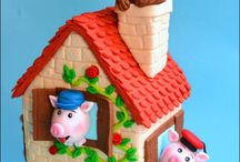 Three little pigs party