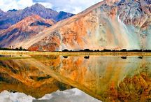 11 ASTONISHING PHOTOGRAPHS OF THE NUBRA VALLEY / The only place in the world where you find a fine blend of snow-capped mountains and desert is Nubra Valley in Ladakh. In fact, sand dunes stand out in a stark contrast against the azure blue sky and beige and brown barren hills. If you're lucky, you may even spot the now endangered double-humped camels grazing in the Nubra valley.