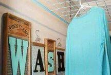 Развешивание одежды