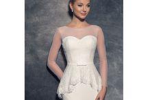 Svadobné šaty s dlhým rukávom