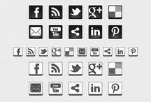 Iconos Redes Sociales. (PNG)
