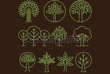 Стилизованные растения