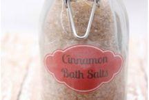 Cinnamon bath salts