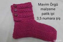 iki şişle  çorap modeli