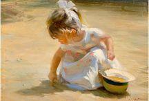 дети живопись