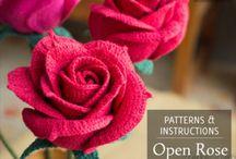 mini crochet de rosas