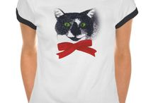 Shirts - Animal Designs / Find a variety of animal designs printed on tee shirts. Many can also be customized.