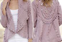 pink crochet jacket