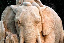 Sandsculptures / zandsculpturen