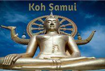 Big Buddha - Wat Phra Yai - Attractions, Island Info, Koh Samui / Big Buddha is a must see when in Samui. The many Temples in Koh Samui. www.islandinfokohsamui.com / by Island Info Samui