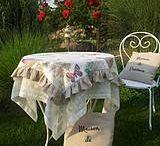 Balkonové sedenie vintage biele