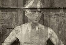 heykel & resim & siyah beyaz fotoğraf