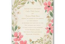 2016 Wedding Invitation Trends / 2016 Wedding Invitation trends.  Foils, floral, vintage, glitter paper, laser cut