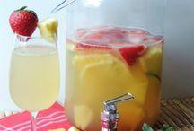 Strawberry pineapple sangria