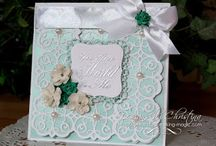 flowers ribbons and pearls cards / by Lavinia Dow
