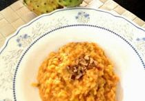 Glamour in cucina: Risotto con fichi, gorgonzola e noci tostate