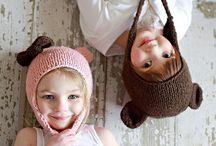 gorros y guantes / gorros y guantes  tejidos, a dos agujas y crochet